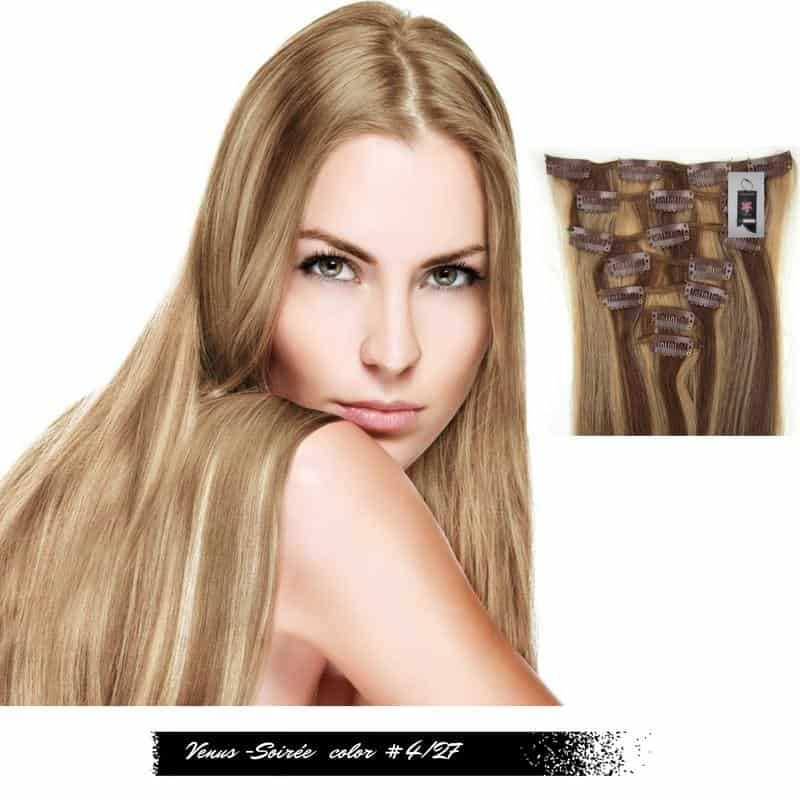 Clip In Virgin Remy Human Hair Extensions Glamorous Easy Simple Hairdo